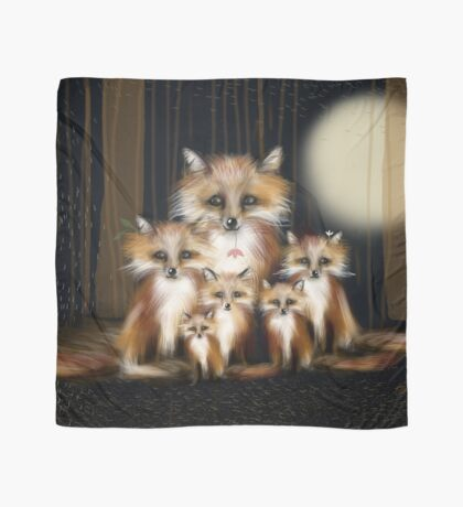 Fox Family Scarf