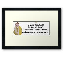 Undesirables Lady Parks and Recreation Framed Print