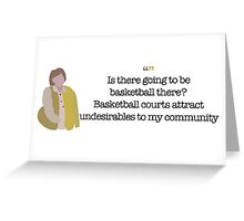 Undesirables Lady Parks and Recreation Greeting Card