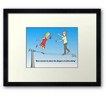 On-line dating Framed Print