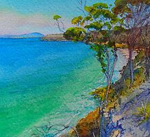 Spring Beach View by melhillswildart
