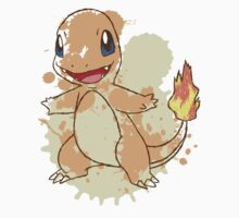 Charmander Splatter Kids Clothes