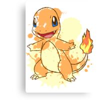 Charmander Splatter Canvas Print