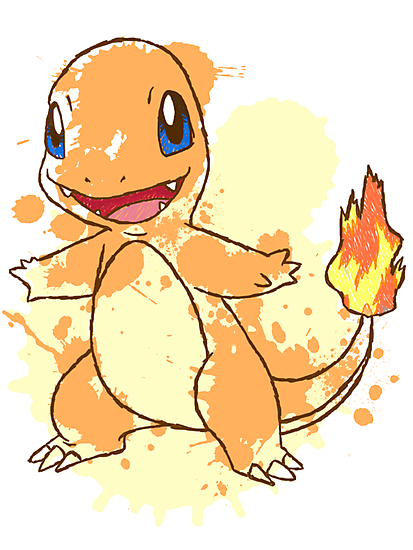 Charmander Splatter by Keelin  Small