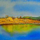 Sunlit silos, Darlington, Maria Island by melhillswildart