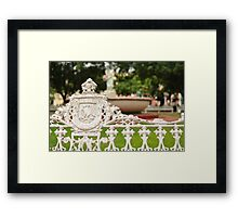 Town Square in Mexico Framed Print