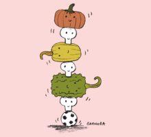 Pumpkin Skull Totem Pole Kids Clothes