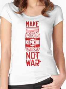 Make Kimchi Not War Funny Cool Nerd Geek T-Shirt Women's Fitted Scoop T-Shirt