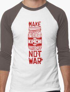 Make Kimchi Not War Funny Cool Nerd Geek T-Shirt Men's Baseball ¾ T-Shirt