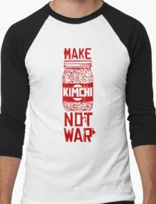 Make Kimchi Not War Funny Cool Nerd Geek T-Shirt Men's Baseball ¾ T-Shirt