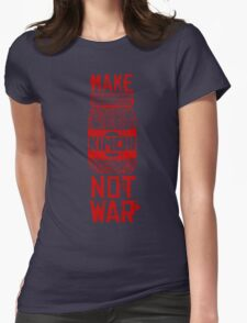 Make Kimchi Not War Funny Cool Nerd Geek T-Shirt Womens Fitted T-Shirt