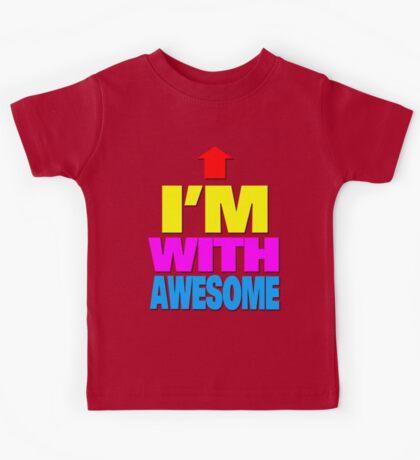 I'm with awesome Kids Tee