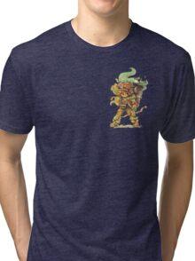 ChewyDinosaur Adventurer (Zippered Hoodie Version) Tri-blend T-Shirt