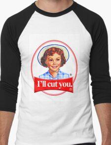 Little debbie-I'll cut you Men's Baseball ¾ T-Shirt