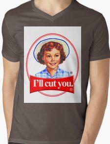 Little debbie-I'll cut you Mens V-Neck T-Shirt
