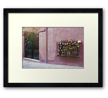 FAIRYTALE FLOWER HOUSE Framed Print