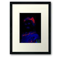 Nikolas Tesla [Electric Tesla] | Color History | Wighte.com/color-history Framed Print