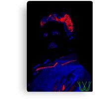 Nikolas Tesla [Electric Tesla] | Color History | Wighte.com/color-history Canvas Print