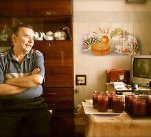 ukrainian kitchen scene by kchamula