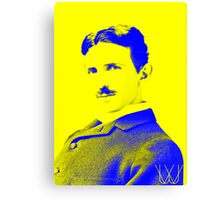 Nikola Tesla [Yellow Blue] | Wighte.com Canvas Print