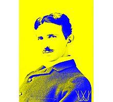 Nikola Tesla [Yellow Blue] | Wighte.com Photographic Print