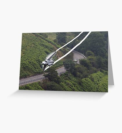 French Air Force Miage Low Flying in the Mach Loop Greeting Card