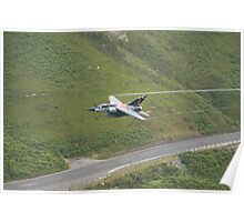 French Air Force Special Tail Mirage F1 low pass in the Mach Loop Poster