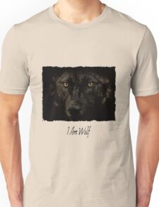 Midnights Gaze - Black Wolf Wild Animal Wildlife Unisex T-Shirt