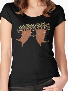 Dancing Trees Women's Fitted Scoop T-Shirt