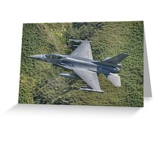 Dutch Air Force F16 low pass in the Mach Loop Greeting Card
