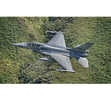 Dutch Air Force F16 low pass in the Mach Loop Photographic Print