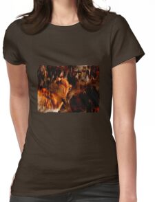 Alpha Male, Wolf Challenge, Battling Wolves Womens Fitted T-Shirt