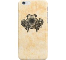 Wolf Skull (Black & White) iPhone Case/Skin