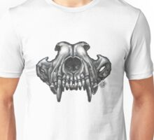 Wolf Skull (Brown) Unisex T-Shirt