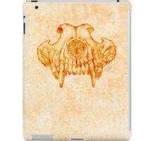 Wolf Skull (Brown) iPad Case/Skin