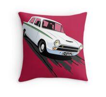 Ford Lotus Cortina Mk 1 Throw Pillow