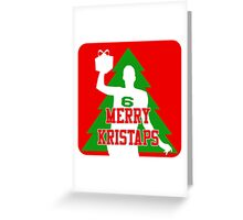 Merry Kristaps - Red Greeting Card