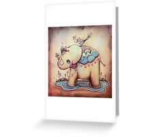 Little Diana the Vintage Elephant Princess Greeting Card