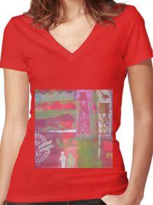 Tableland Living Women's Fitted V-Neck T-Shirt