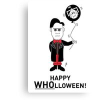 Dr Who Halloween Card 2 Canvas Print