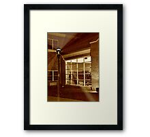 Display Window At the West Caldwell Firehouse Framed Print