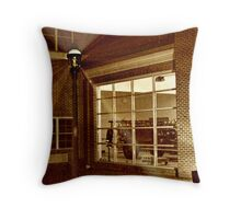 Display Window At the West Caldwell Firehouse Throw Pillow