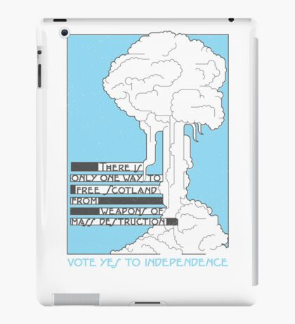 Free from weapons of mass destruction iPad Case/Skin