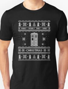 Ugly Christmas Doctor Who- Wibbly-Wobbly-Wimey Ugly Christmas T-Shirt