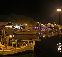 Harbour At Night by Robert Abraham