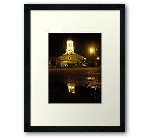 Reflection of a night church Framed Print