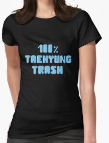 100% Taehyung trash Womens Fitted T-Shirt