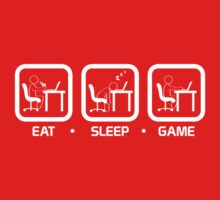 Eat, Sleep, Game (PC Version) Kids Clothes