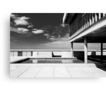 On the roof of Le Corbusier's Unité d'Habitation in Marseille - 2 Canvas Print