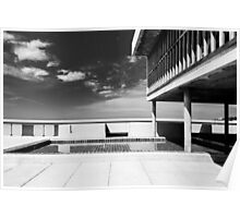 On the roof of Le Corbusier's Unité d'Habitation in Marseille - 2 Poster